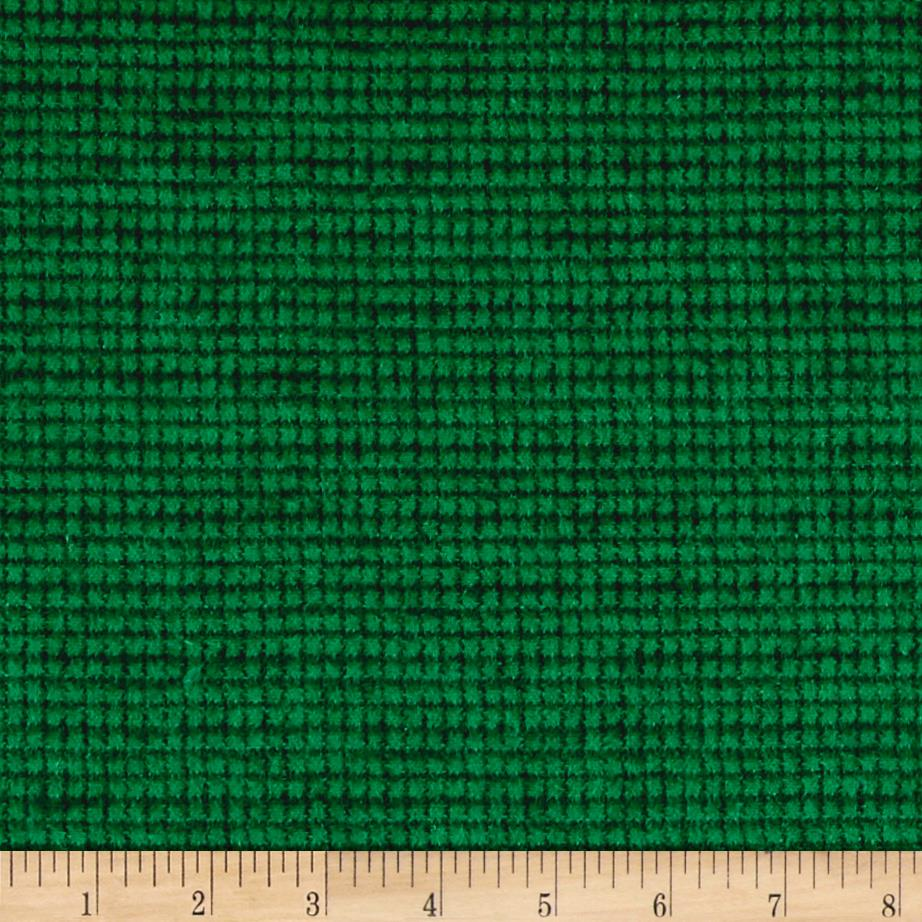 Local Color Yarn Dyed Flannels Mini Woven Green Fabric