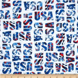 USA USA Word Pattern Multi