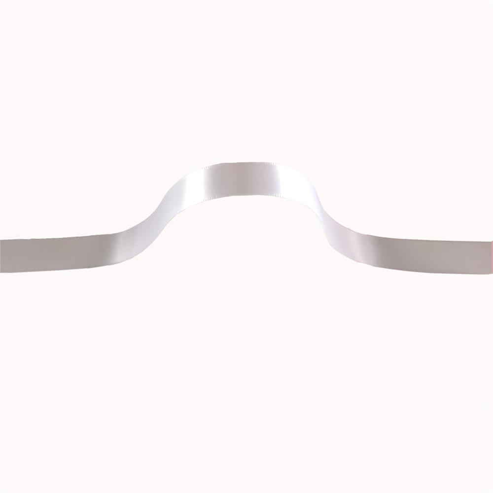 "5/8"" Offray Single Face Satin Ribbon White"