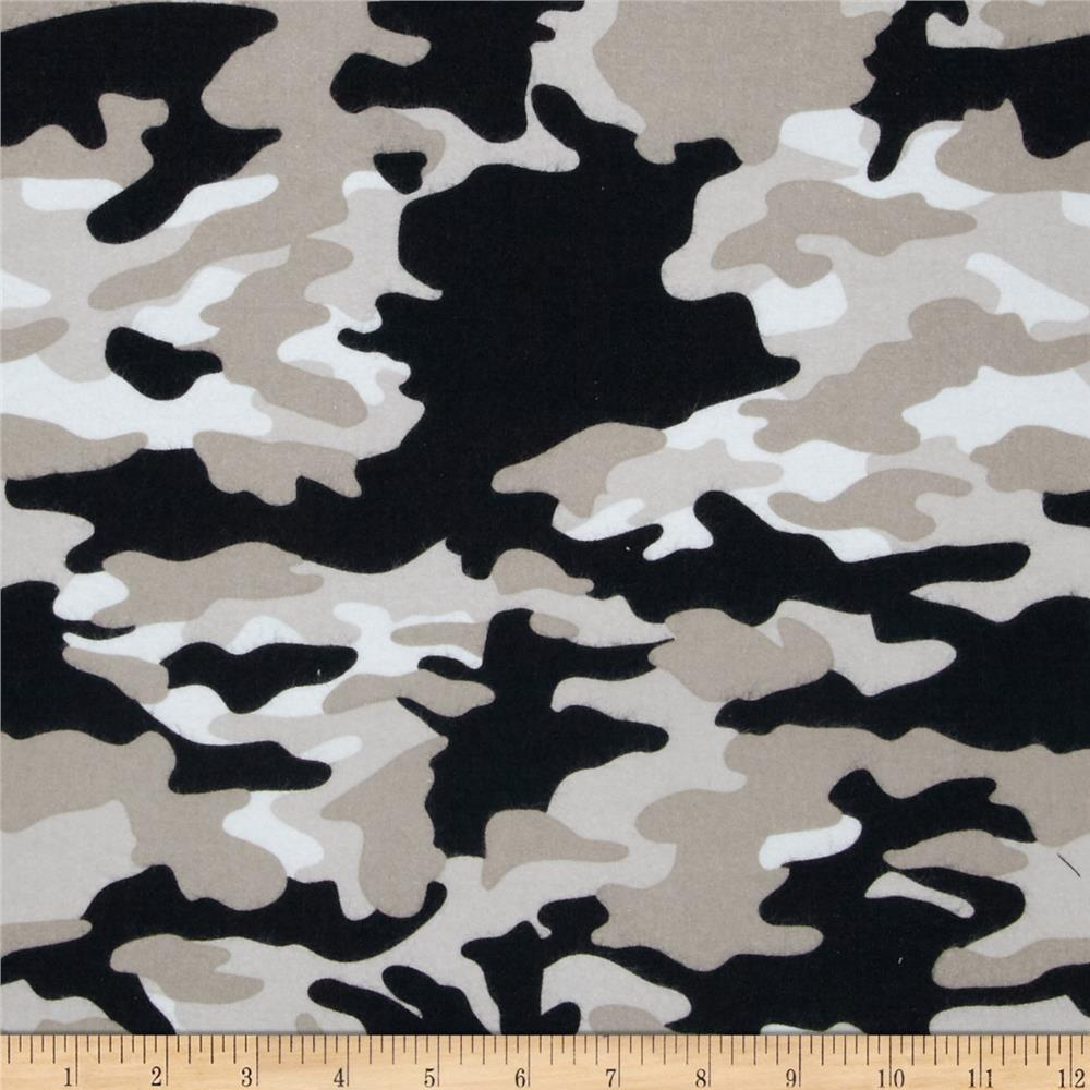 Riley Blake Military Max Flannel Camo Black