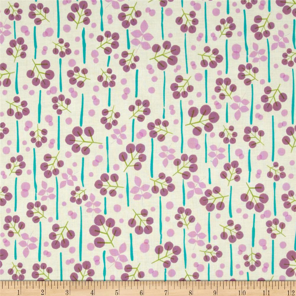 Summer's End Abstract Small Floral Big Sur Cream