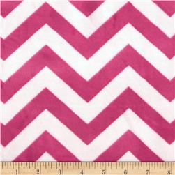 Minky 3/4'' Chevron Hot Pink/Light Pink