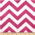 "Minky 3/4"" Chevron Hot Pink/Light Pink"