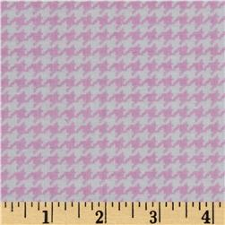 Michael Miller Tiny Houndstooth Rose Fabric