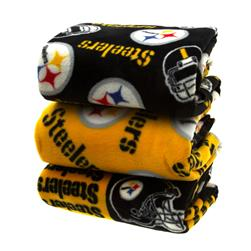 Three Pound NFL Fleece Remnant Bundle Pittsburgh Steelers