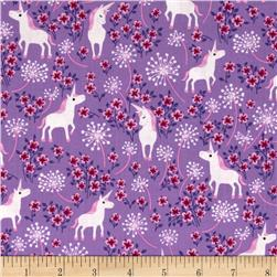 Timeless Treasures Unicorns Lilac
