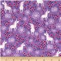 Timeless Treasures Pretty Unicorns Lilac