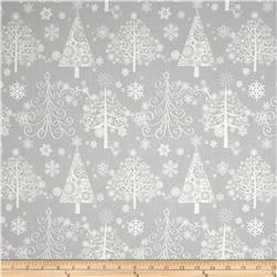 Sparkle Metallic Christmas Trees Silver