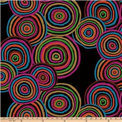 "Kaffe Fasset 108"" Wide Quilt Back Sateen Circles Black"