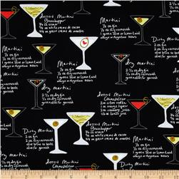 Kanvas Shaken or Stirred Martini Menu Black