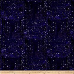 Silver Circuits Metallic Tonal Circuit Purple