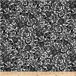 Kaufman Cotton Boucle Prints Paisley Black