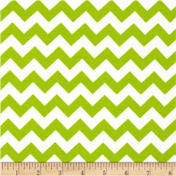 Riley Blake Cotton Jersey Knit Chevron Small Lime