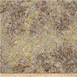 Timeless Treasures Tonga Batik Jupiter Striped Paisley Oyster
