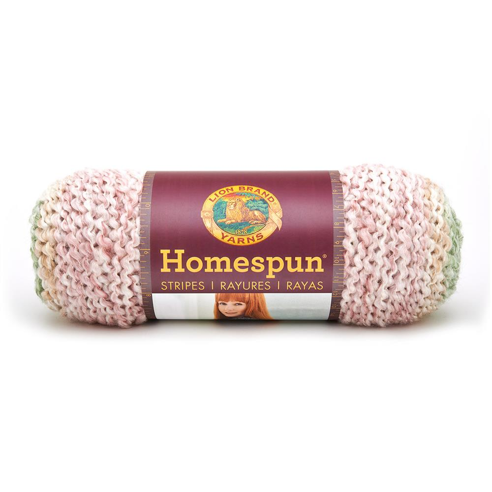 Lion Brand Homespun Stripes Yarn Sundae Stripes