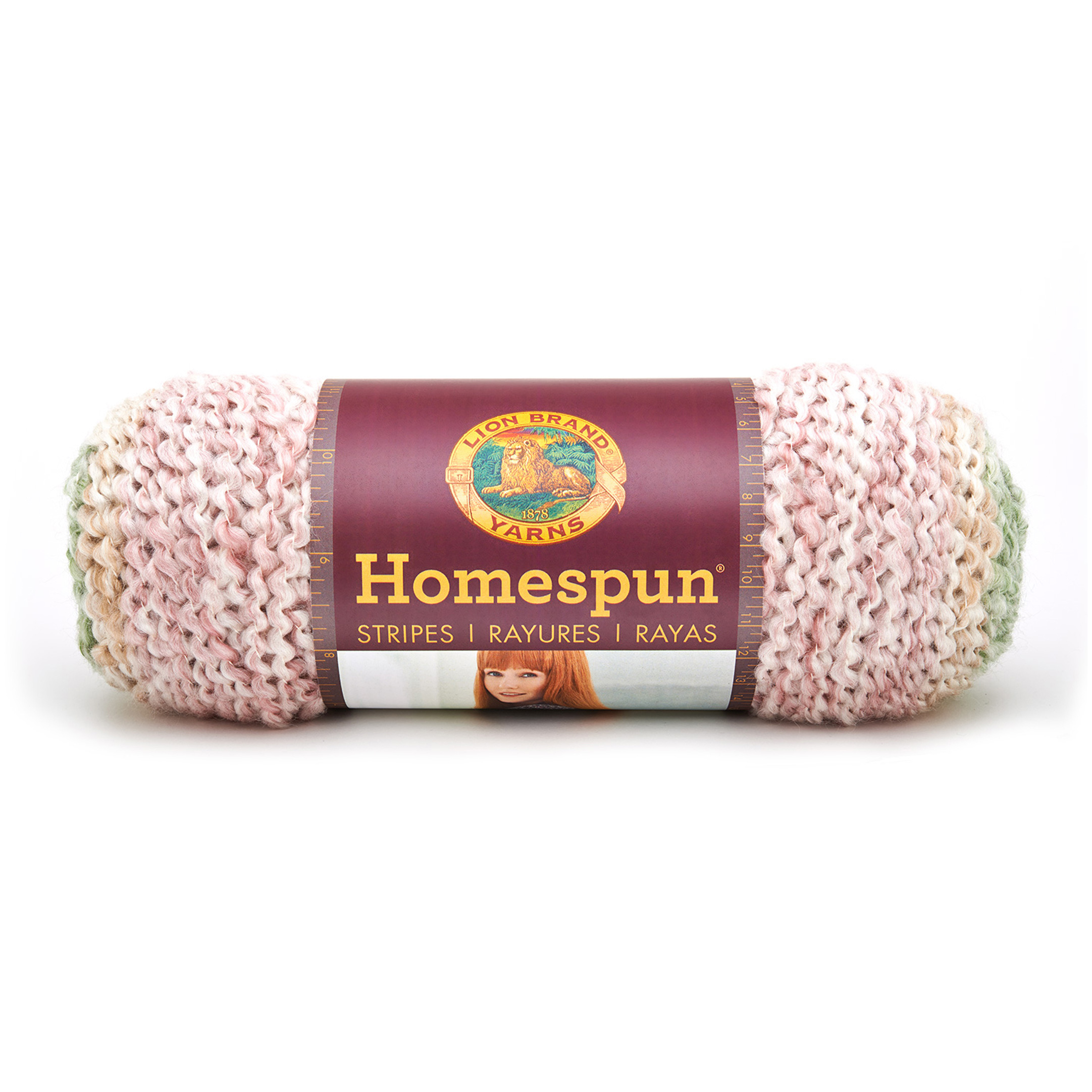 Lion Brand Homespun- Stripes Yarn Sundae Stripes