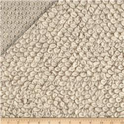 Designer Italian Looped Sweater Knit Cream