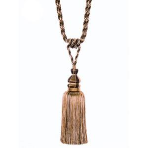 "Fabricut 33"" Porcelain Single Tassel Tieback Walnut"