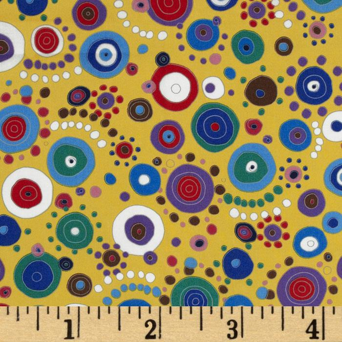 Felicity Large Circle/Dots Yellow