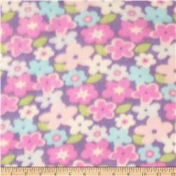 Printed Fleece Floral Pastel
