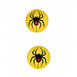 Novelty Button Spider 3/4'' Yellow