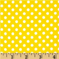 Cuddle Me Basics Flannel Large Dot Yellow