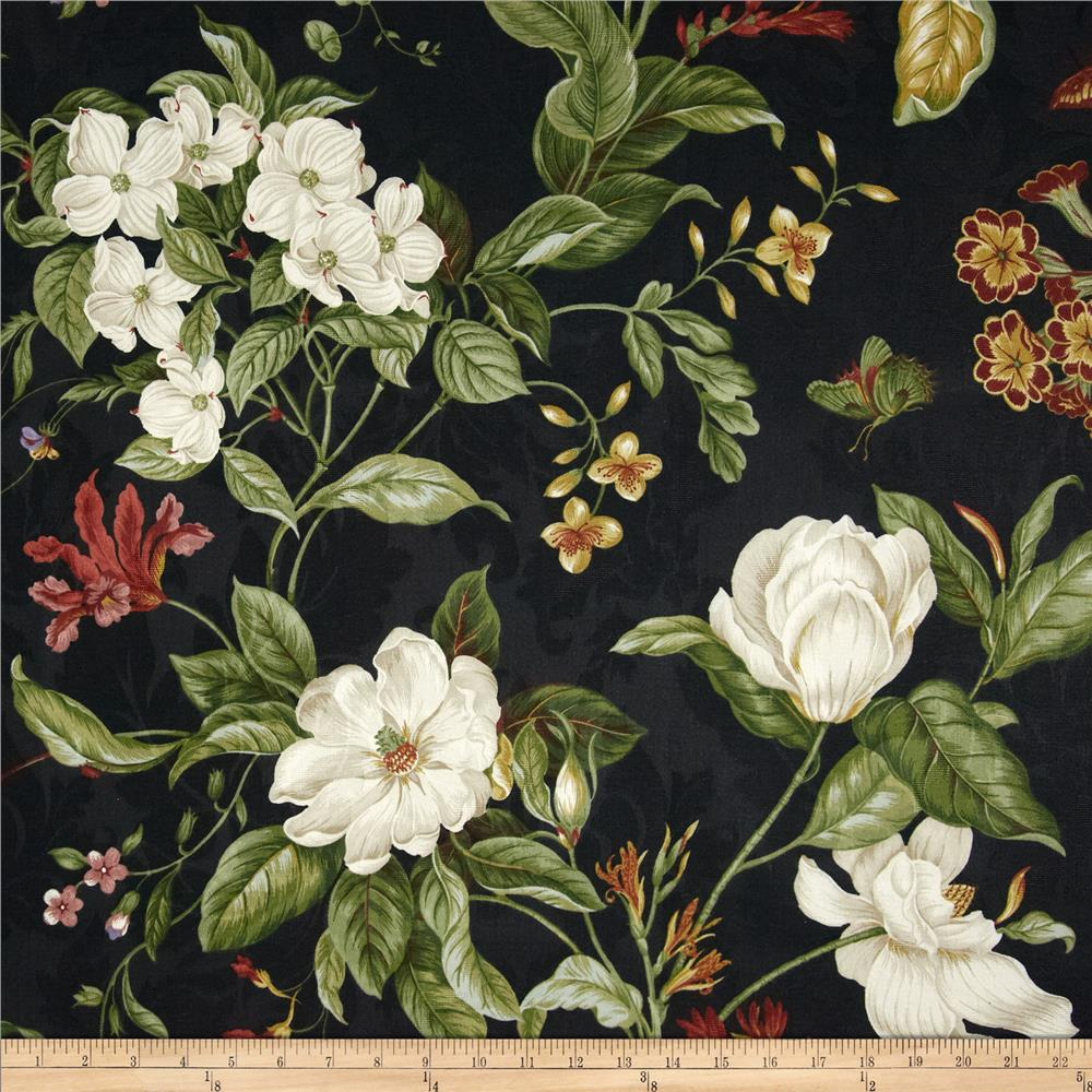 Waverly Garden Images Black Discount Designer Fabric Fabriccom