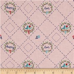 Riley Blake Country Girls Country Birds Pink Fabric