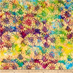 Island Batik Sunflower Pink/Light Green