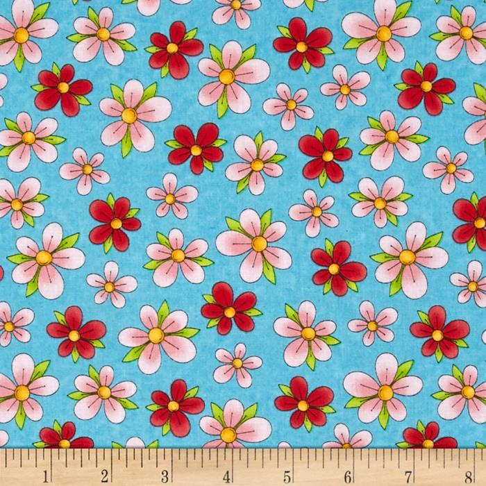 Miss Kitty's Colors Floral Blue