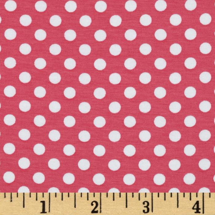 Riley Blake Cotton Jersey Knit Small Dots Hot
