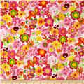 Tutti Frutti Plisse Flowers and Ladybugs Pink