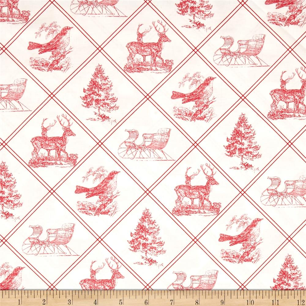 Tanya Whelan Winter Garden Toile Red