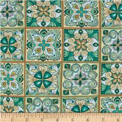 Majestic Beauties Tiles Green