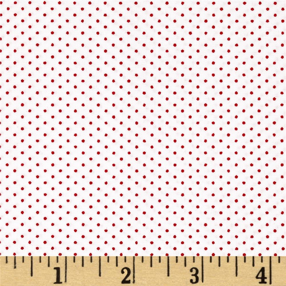 Kaufman Sevenberry Petite Basics Mini Dot Cherry