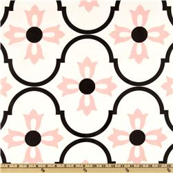 Logan Laminated Cotton Blossoms Pink