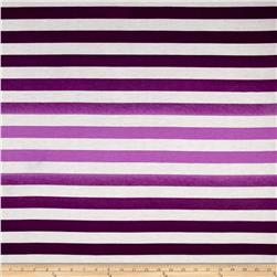 Ombre Jersey Knit Stripe Purple