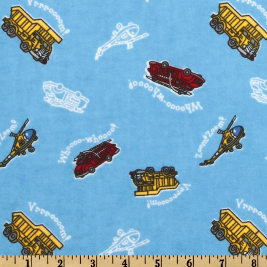 Camelot Flannel Transportation Blue