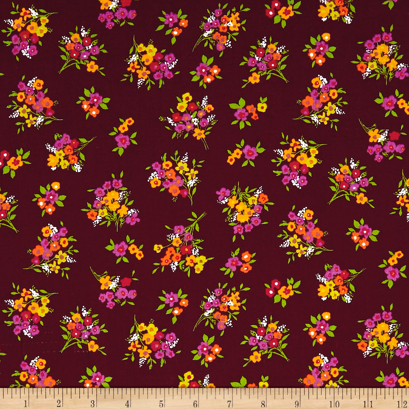 INOpets.com Anything for Pets Parents & Their Pets Botanical Garden Berry Fabric