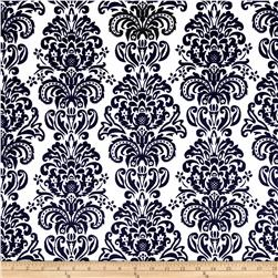 Minky Damask Black/White Fabric