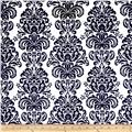 Minky Damask Black/White