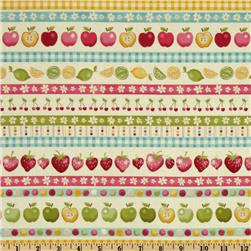 Funky Fruit Border Stripe Multi
