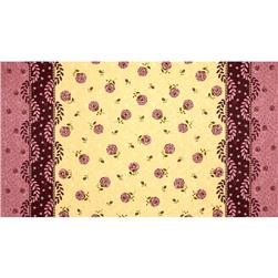 Moda Print Charming Double Border Berry