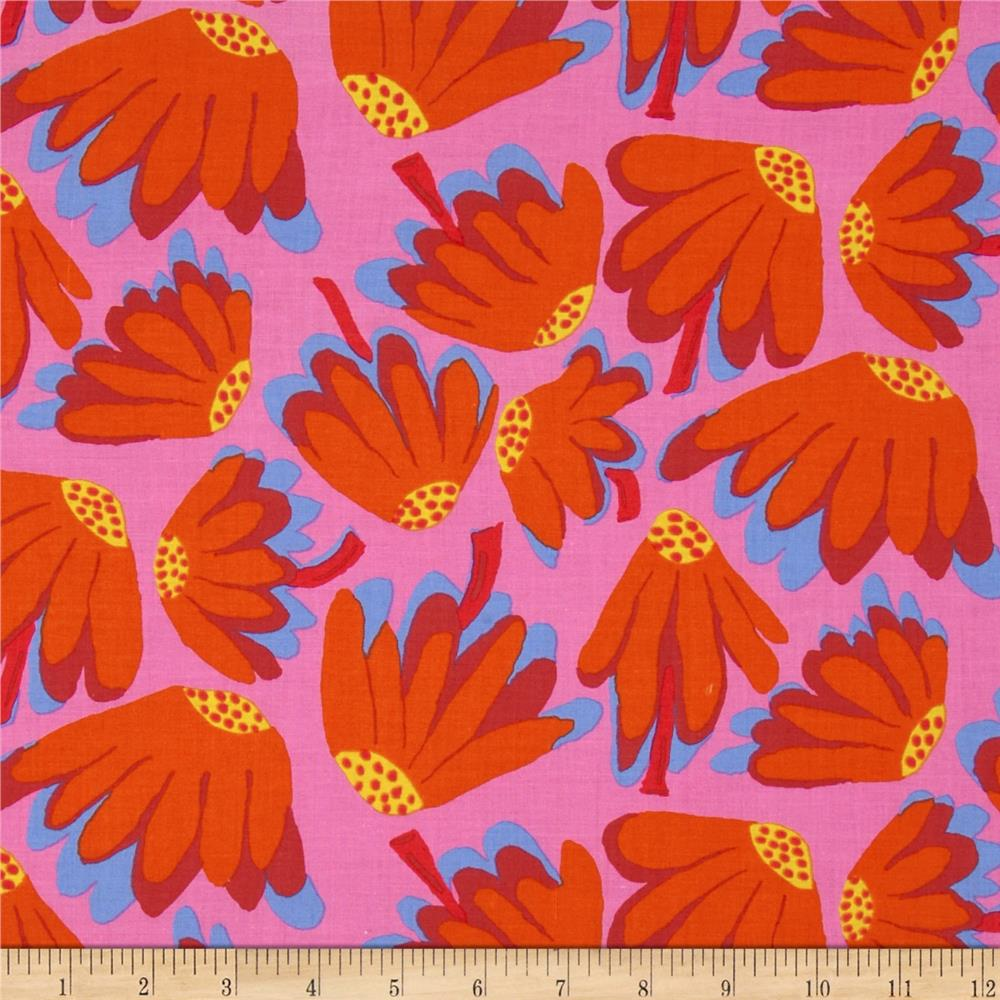 Kaffe Fassett Spring 2014 Collective Volcano Lazy Daisy Pink