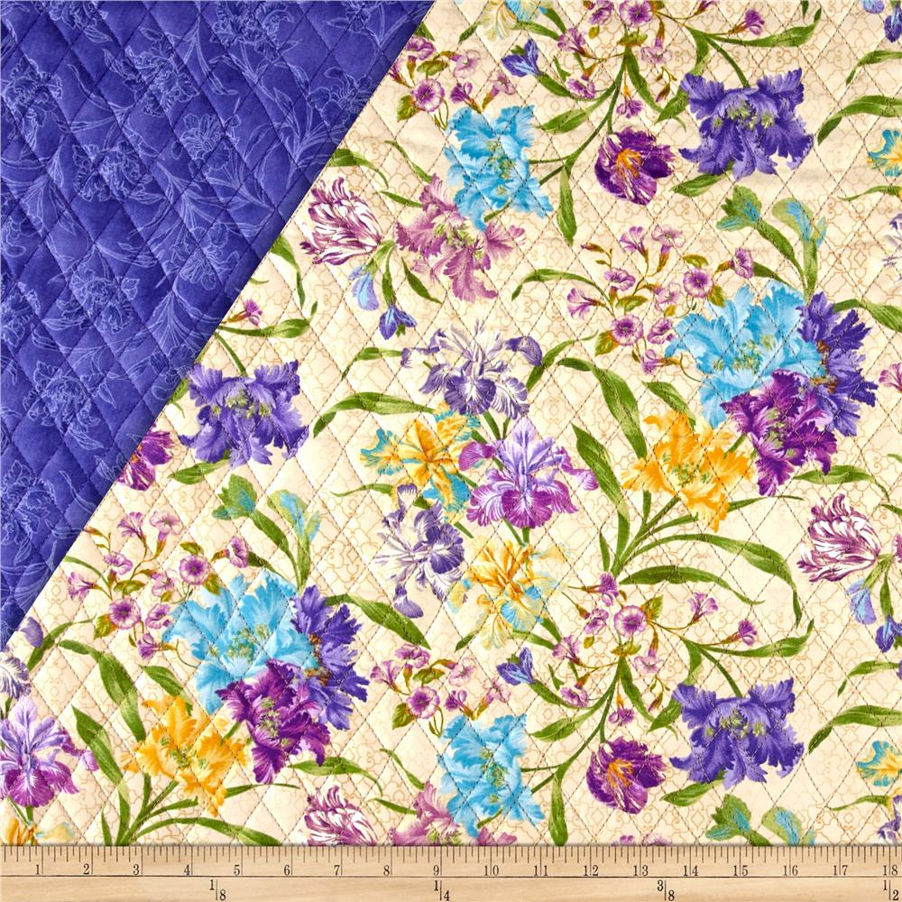 Garden Rendezvous Double Sided Quilted Floral Beige