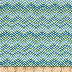 Moda Bloomin' Fresh Spring Chevrons Blue/Green