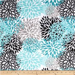 Premier Prints Blooms Minky Cuddle Teal