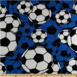 Fleece Soccer Balls Blue