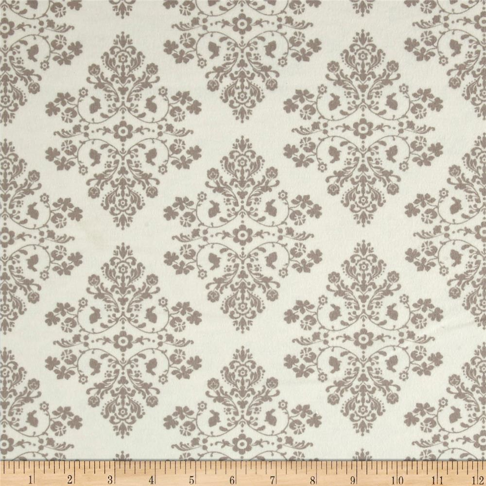 Moda Lily & Will Revisited Flannel Cottontail Toile Cream-Gray