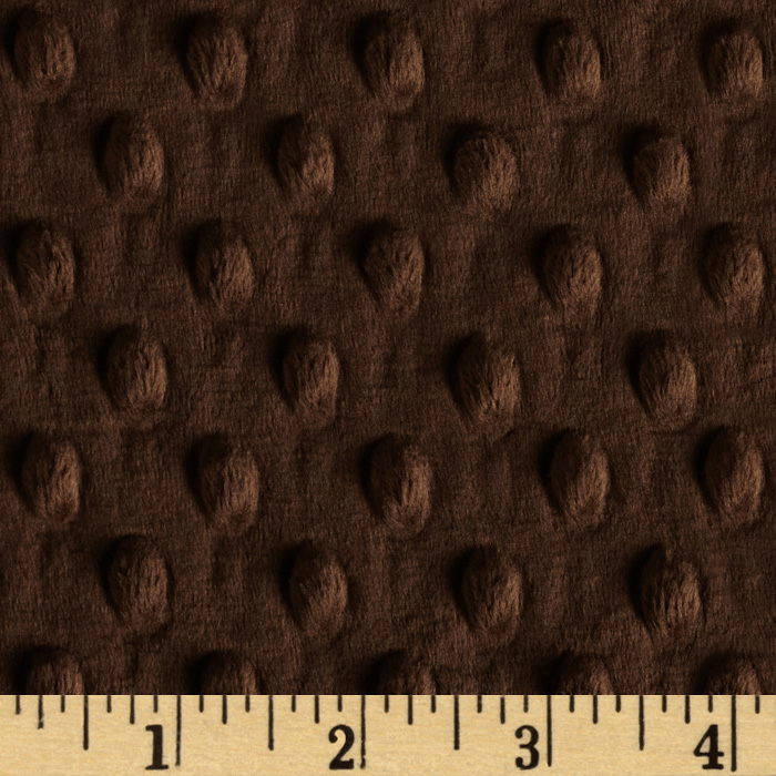 Minky Cuddle Dimple Dot Brown Fabric